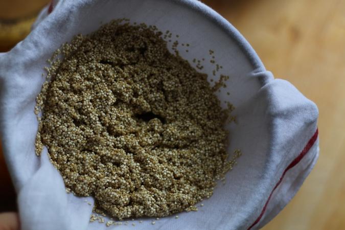 Quinoa-waschen