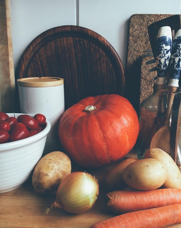 Kürbis in der Küche